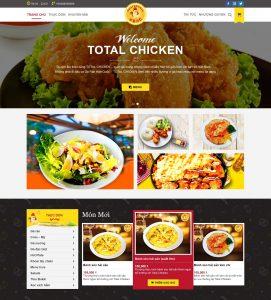Giao diện web nhà hàng, cửa hàng gà rán